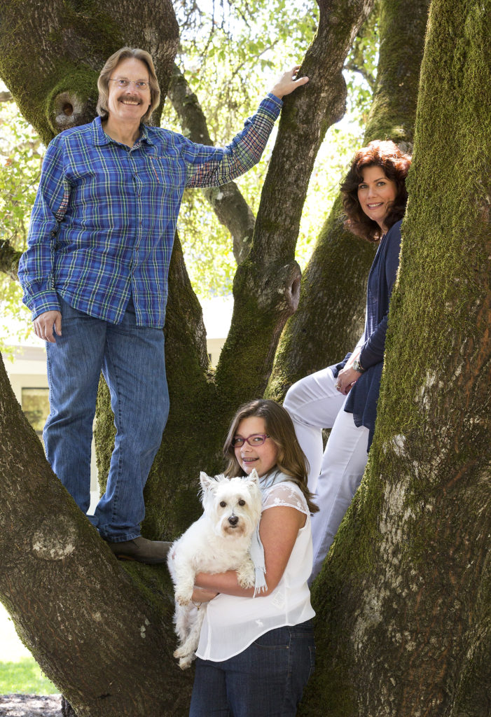 Bob Cabral with his family